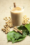 Turkish Boza and chickpea. Turkish drink Boza and chickpea Stock Photo