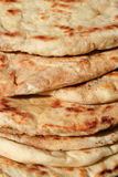 Turkish bread. Bazlama as background Royalty Free Stock Photography