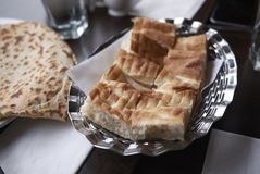 Turkish bread for lunch. Turkish bread served for lunch Royalty Free Stock Photography