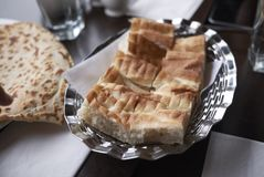 Turkish bread for lunch. Turkish bread served for lunch Royalty Free Stock Images