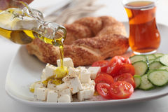 Turkish breakfast Royalty Free Stock Images
