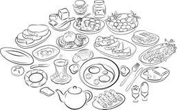 Turkish breakfast royalty free illustration
