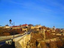 Turkish bridge over canyon, Kamenets Podolskiy, Ukraine Stock Image