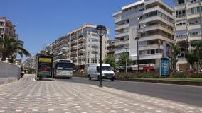 Turkish bus. TURKEY, ANTALYA, JUNE 21: 2011: Turkish bus on the street in Antalya, Turkey, June 21, 2011 stock video