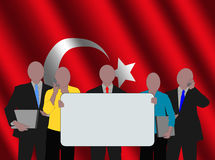 Turkish business team with flag Royalty Free Stock Photo