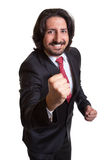 Turkish businessman is happy about his success royalty free stock photo