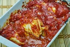 Turkish Cabbage Rolls with Yoghurt Sauce Stock Image