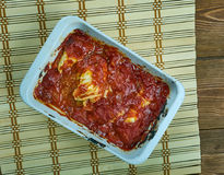 Turkish Cabbage Rolls with Yoghurt Sauce Stock Photos