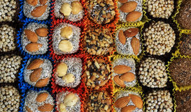 Turkish candies and sweets, tasty background, Stock Photography