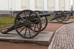 Turkish cannons of monument of Glory Royalty Free Stock Images