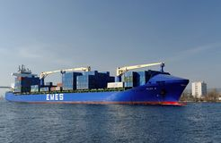 Turkish cargo ship HILDE A Stock Image