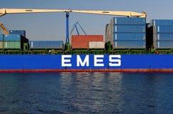 Turkish cargo ship HILDE A Stock Photo