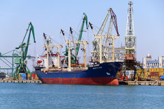 Turkish cargo ship MEZYET ANA Royalty Free Stock Image