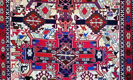 Turkish Carpet Background Stock Photo