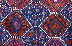 Turkish carpet. The detail of a traditional Turkish carpet Stock Image