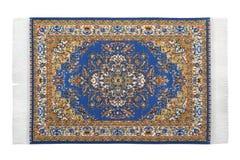 Turkish carpet horizontally lies on white Stock Photography