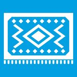 Turkish carpet icon white. Isolated on blue background vector illustration royalty free illustration