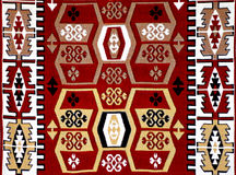 Turkish Carpet Pattern with motifs Stock Images