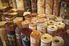Turkish Carpet Store Royalty Free Stock Photos