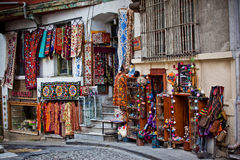 Turkish carpets and souvenirs Stock Photos