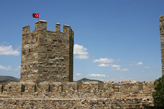 Turkish Castle. In Western Turkey Stock Image