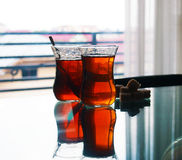 Turkish cay tea Royalty Free Stock Photo