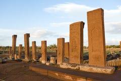 Turkish cemetery in Ahlat Stock Photo