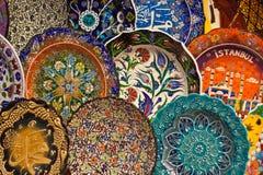 Turkish ceramic art royalty free stock photography