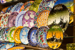 Turkish Ceramic Plates Stock Photography