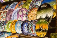 Turkish Ceramic Plates Stock Photography