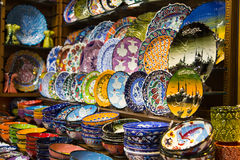 Turkish Ceramic Plates Royalty Free Stock Photo