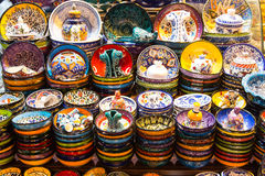 Turkish Ceramic Plates Stock Photo