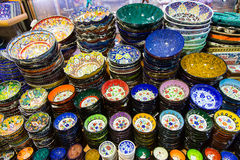 Turkish Ceramic Plates Royalty Free Stock Images