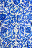 Turkish ceramic tiles oriental pattern Royalty Free Stock Photography