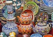 Ceramics on Grand bazaar Istanbul Stock Image