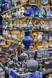 Ceramics on Istanbul bazaar  Royalty Free Stock Photography