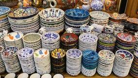 Turkish Ceramics in Grand Bazaar Stock Photos
