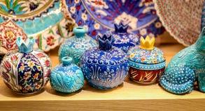 Turkish Ceramics in Grand Bazaar, Istanbul, Turkey Royalty Free Stock Photo