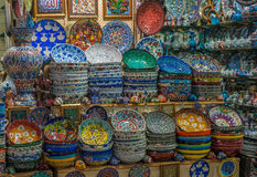 Turkish ceramics at Grand Bazaar, Istanbul Stock Photos
