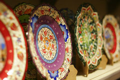 Turkish ceramics on the market Royalty Free Stock Images