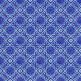 Turkish ceramics. Seamless background made of turkish ceramic tiles Royalty Free Stock Image