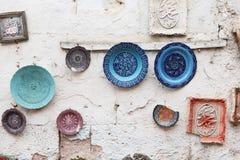 Turkish Ceramics in Souvenir Shop Royalty Free Stock Images