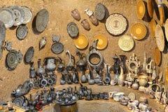Turkish Ceramics in Souvenir Shop Stock Photos