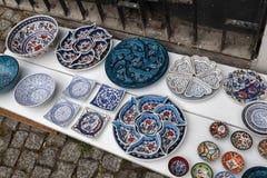 Turkish ceramics in street,Istanbul, Turkey. Stock Photography
