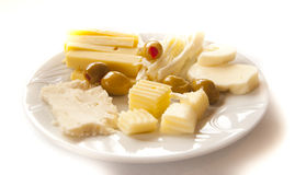 Turkish cheese and olives Royalty Free Stock Photo