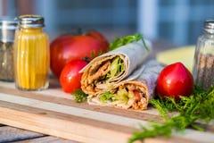 Turkish Chicken Doner / Shawarma royalty free stock images