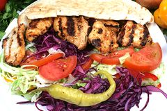 Turkish Chicken kebab Royalty Free Stock Images