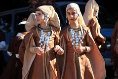 Turkish children in national costumes Royalty Free Stock Photography