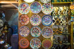 Turkish chinaware in Grand Bazaar. In Istanbul,Turkey stock photos