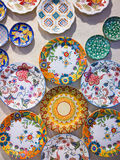 Turkish chinaware in Grand Bazaar. In Istanbul,Turkey stock photography
